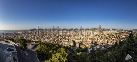 View of Marseille from Notre-Dame de la Garde Stock photo © meinzahn