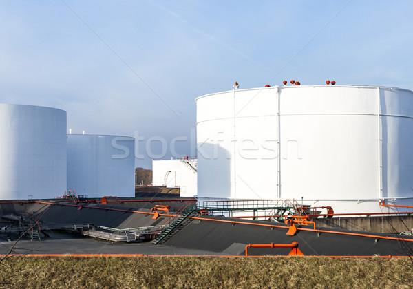 white tanks in tank farm   Stock photo © meinzahn