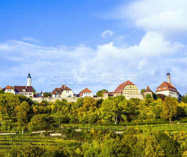 Panorama oude beroemd stad middeleeuwse romantische Stockfoto © meinzahn