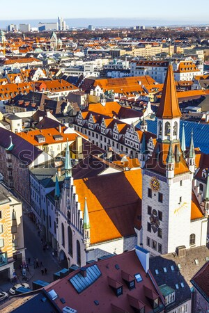 Antenne München schönen Wetter Gebäude Kirche Stock foto © meinzahn