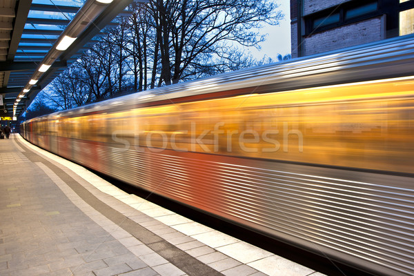 train in motion Stock photo © meinzahn