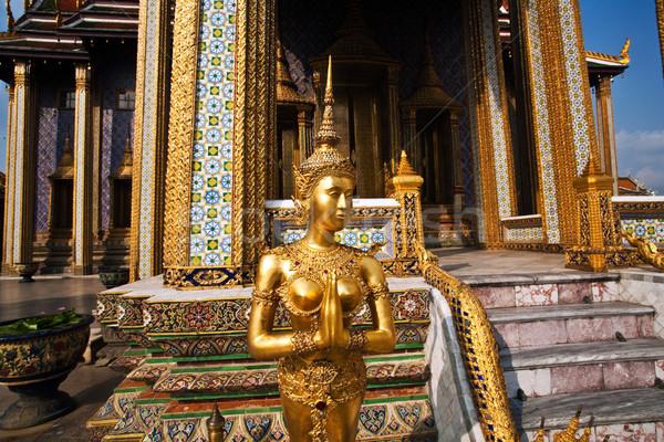 Mitoloji anlamaya izlerken tapınak binalar altın Stok fotoğraf © meinzahn
