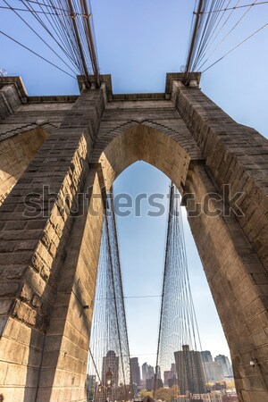 Brooklyn Bridge in New York Stock photo © meinzahn