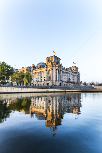 отражение реке Берлин Германия лет синий Сток-фото © meinzahn