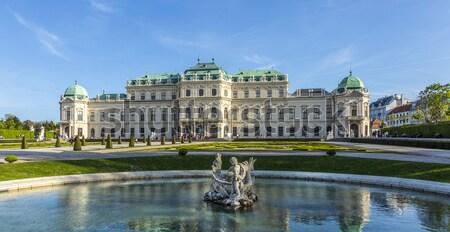 Palácio verão Viena Áustria céu edifício Foto stock © meinzahn
