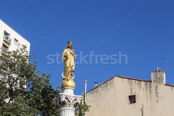 immaculate virgin under blue sky  Stock photo © meinzahn