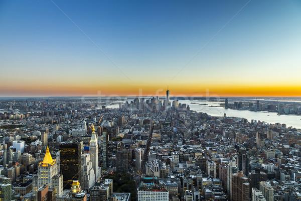specular skyline view of New York Stock photo © meinzahn