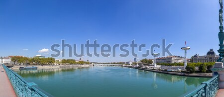 view to Rriver rhone and skyline of Lyon Stock photo © meinzahn