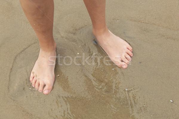 Pies nino playa de arena playa feliz Foto stock © meinzahn
