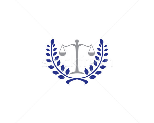 Recht logo Symbol Fall Richter Staatsanwalt Stock foto © meisuseno