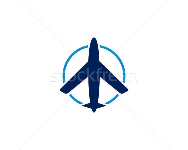 air plane logo Stock photo © meisuseno