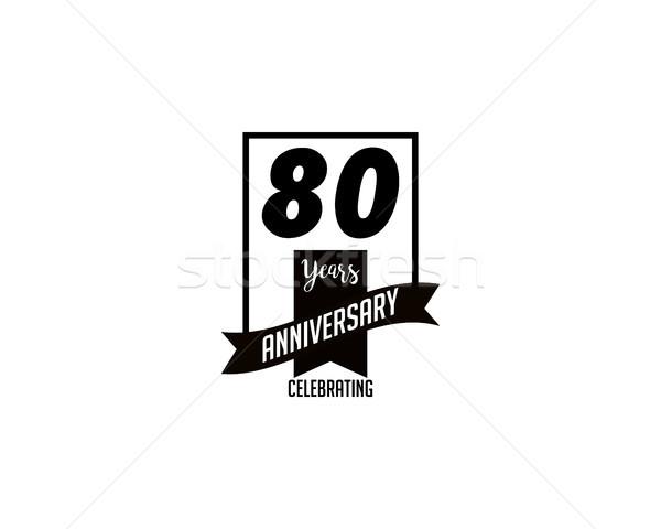 восемьдесят год летию Знак искусства объект Сток-фото © meisuseno