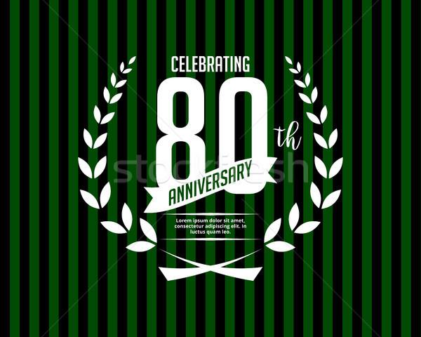eighty anniversary card invitation Stock photo © meisuseno