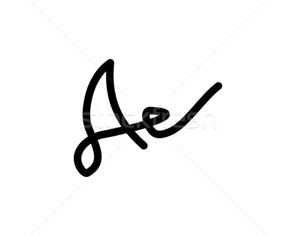 a letter signature logo Stock photo © meisuseno