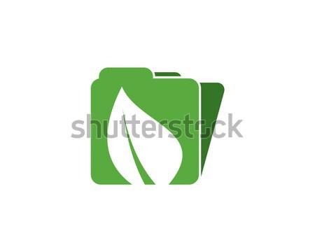 eco file logo Stock photo © meisuseno