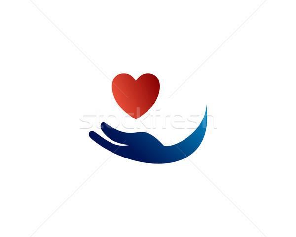 ケア ロゴ シンボル 社会 協力 チームワーク ストックフォト © meisuseno