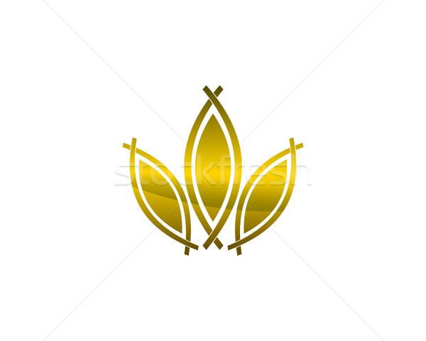 Foglia logo simbolo natura alberi Foto d'archivio © meisuseno