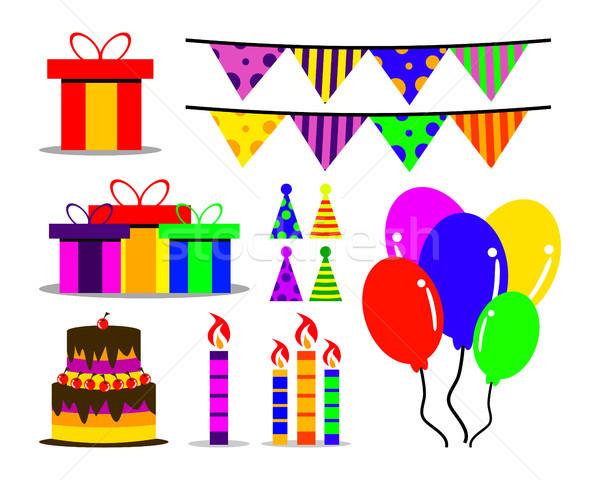 Születésnap nyereség gyűjtemény művészet terv üzlet Stock fotó © meisuseno