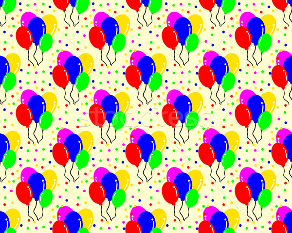 birthday pattern background shaped balloon Stock photo © meisuseno