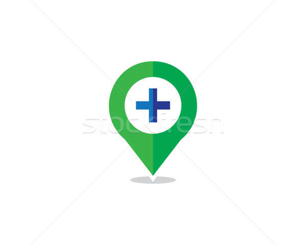 hospital locator logo Stock photo © meisuseno
