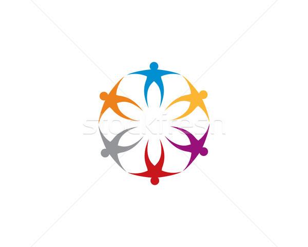 community care logo template Stock photo © meisuseno