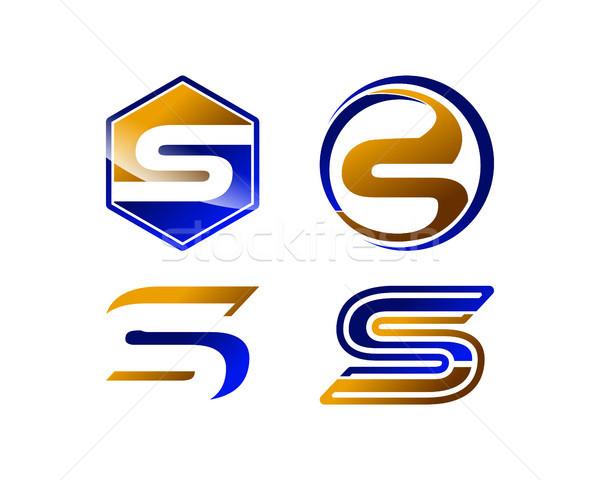Mektup logo şablon toplama simge form Stok fotoğraf © meisuseno