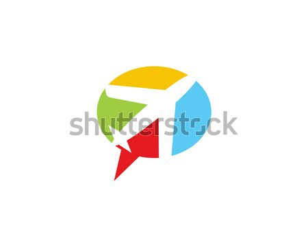 Lucht vliegtuig chat logo symbool communicatie Stockfoto © meisuseno