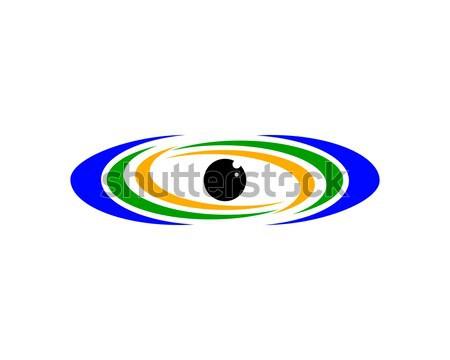 Előrelátás logo szimbólum emberi testrész szem Stock fotó © meisuseno