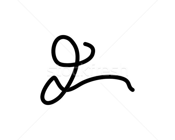 Lettre signature logo symbole design fond Photo stock © meisuseno