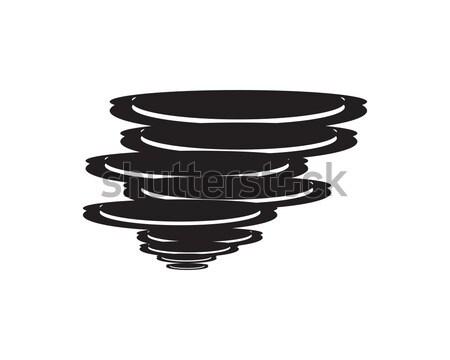 Storm логотип символ погода природного катастрофа Сток-фото © meisuseno