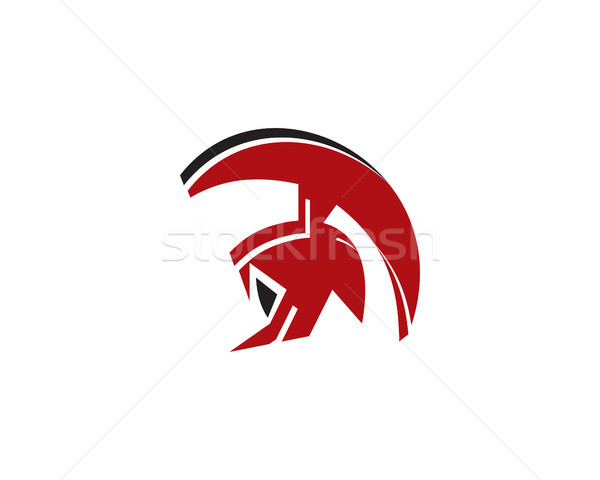 Spartaans logo symbool gladiator vechter hand Stockfoto © meisuseno