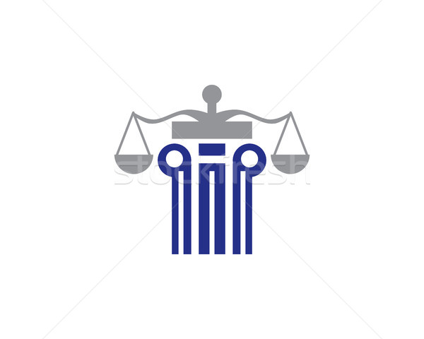 Törvény logo szimbólum tok bíró ügyész Stock fotó © meisuseno