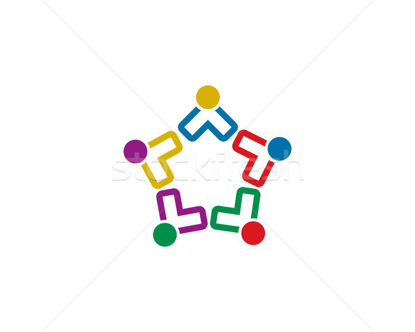 Stock photo: team work logo