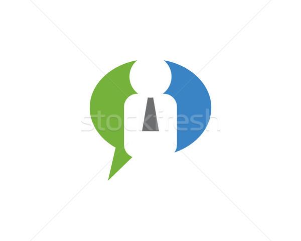 employee chat logo Stock photo © meisuseno