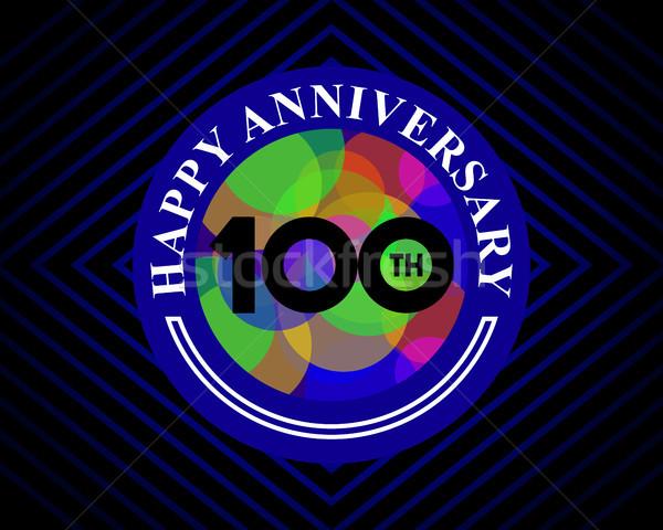 100 aniversario celebración tarjeta plantilla tarjeta de felicitación Foto stock © meisuseno