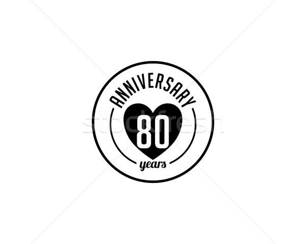 Ottanta anno anniversario badge arte oggetto Foto d'archivio © meisuseno