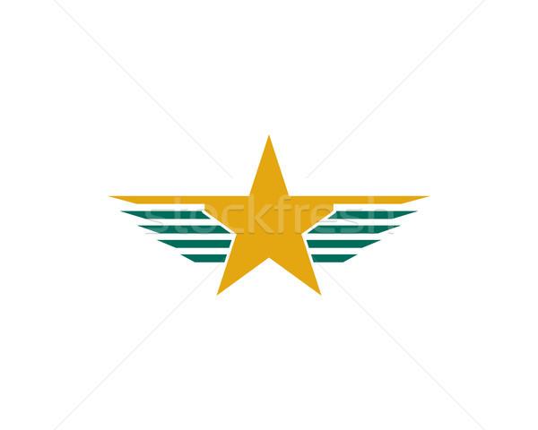 wing star logo Stock photo © meisuseno