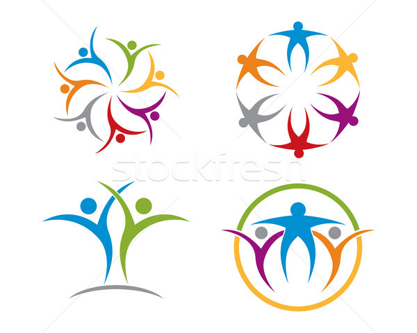 community care logo Stock photo © meisuseno