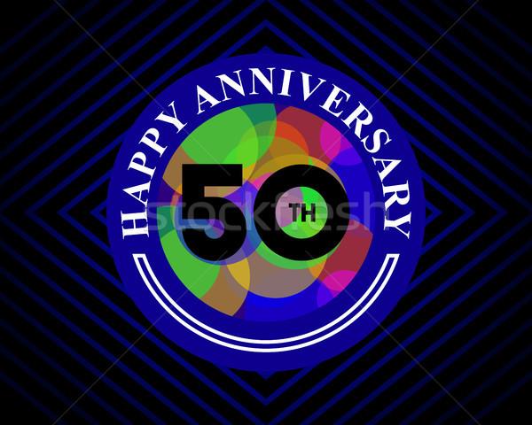 50 aniversario celebración tarjeta plantilla tarjeta de felicitación Foto stock © meisuseno