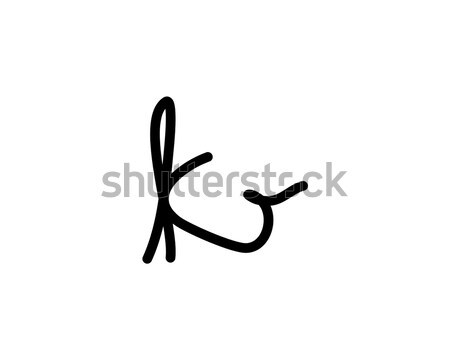 k letter signature logo Stock photo © meisuseno