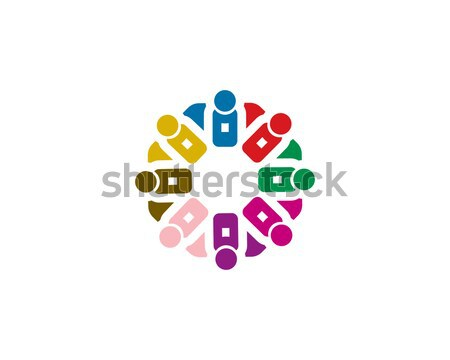 team work logo Stock photo © meisuseno