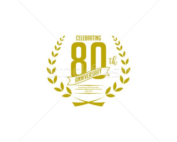 eighty year anniversary badge Stock photo © meisuseno