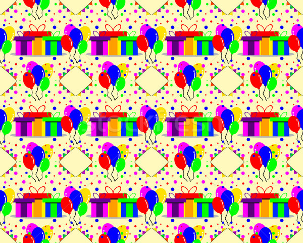 birthday pattern background Stock photo © meisuseno