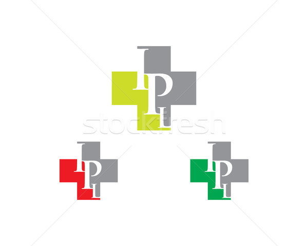 ipl letter hospital logo Stock photo © meisuseno