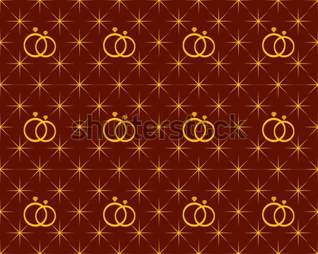 anniversary pattern background shaped stars and diamond ring Stock photo © meisuseno