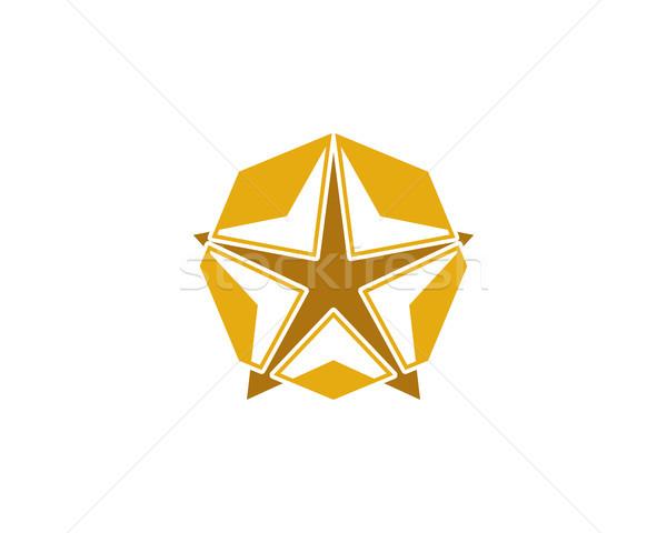 Star logo simbolo successo vittoria rango Foto d'archivio © meisuseno