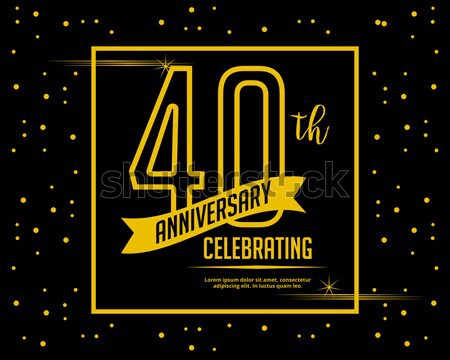 sixty anniversary card invitation Stock photo © meisuseno