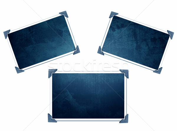 Three Photo frames with texture Stock photo © melking