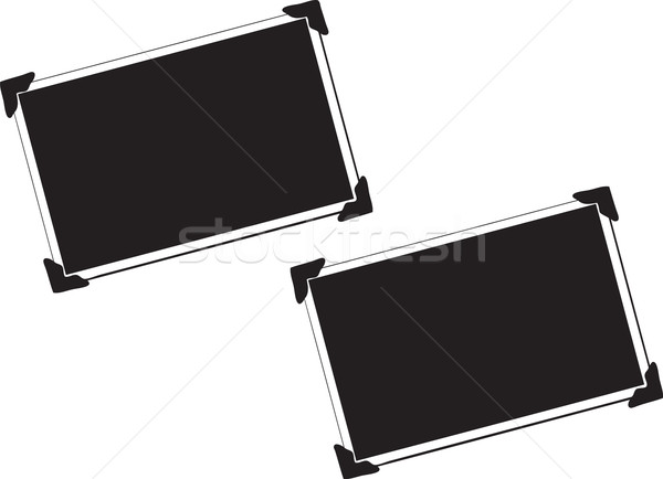 Blank Picture with photo corners Stock photo © melking