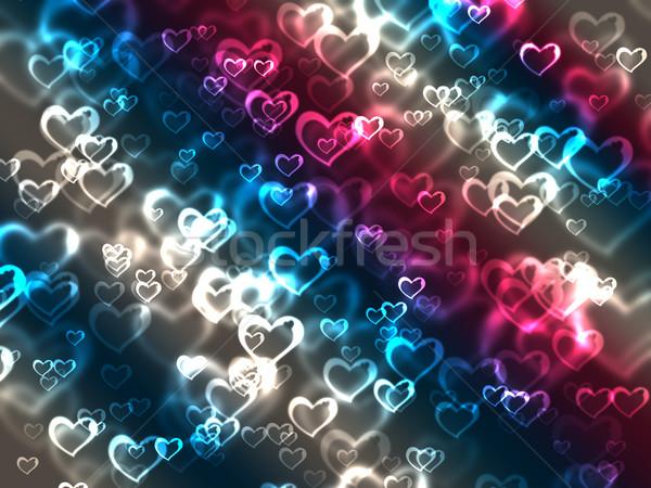 Abstract harten kleurrijk partij liefde Stockfoto © melking